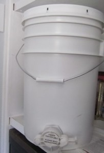 Honey bucket makes it easy to drain honey into jars