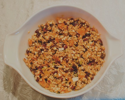 Homemade granola equates to cheaper and better control over ingredients