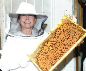 Me with a frame of honey from the hive