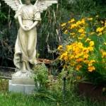 This angels in my garden serves as a visual cue to live life with gratitude